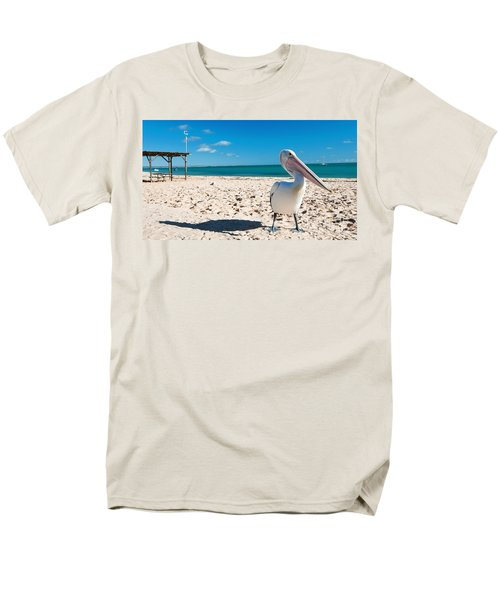 Pelican Under Blue Sky Men's T-Shirt  (Regular Fit) by Yew Kwang