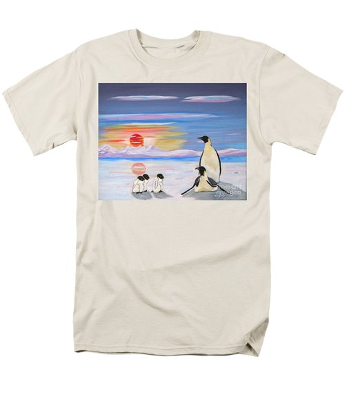 Penguin Family Men's T-Shirt  (Regular Fit) by Phyllis Kaltenbach