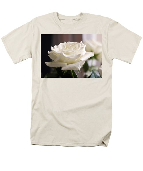 Perfect White Rose Men's T-Shirt  (Regular Fit) by Connie Fox