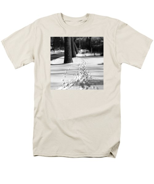Pet Prints In The Snow Men's T-Shirt  (Regular Fit) by Frank J Casella