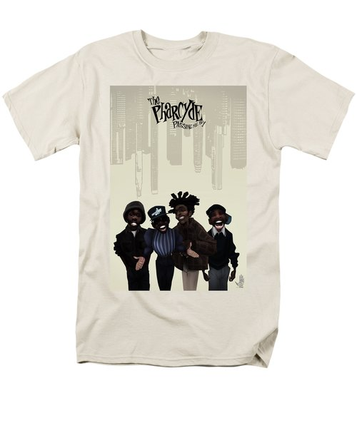 Men's T-Shirt  (Regular Fit) featuring the drawing Pharcyde -passing Me By 1 by Nelson dedos Garcia