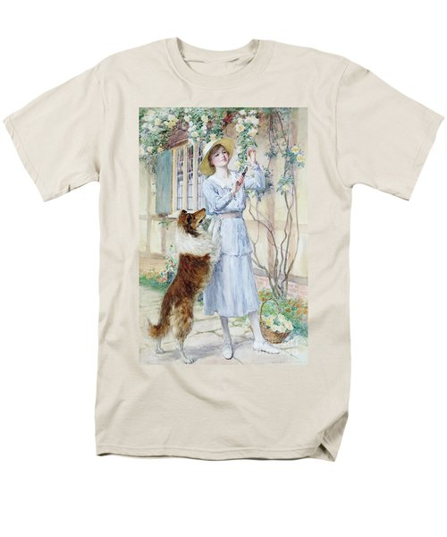 Picking Roses Men's T-Shirt  (Regular Fit) by William Henry Margetson