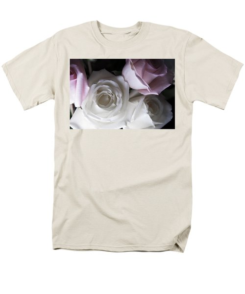 Pink And White Roses Men's T-Shirt  (Regular Fit) by Jennifer Ancker