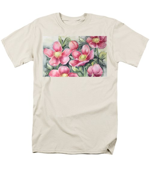 Pink Anemones Men's T-Shirt  (Regular Fit) by Inese Poga