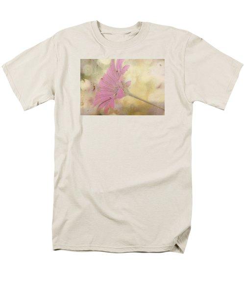 Pink Textured Gazania Men's T-Shirt  (Regular Fit) by Sandra Foster
