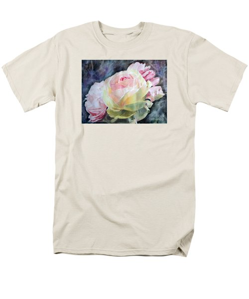 Pink Yellow Rose Angela Men's T-Shirt  (Regular Fit) by Greta Corens
