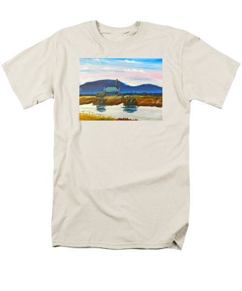 Men's T-Shirt  (Regular Fit) featuring the painting Pittown by Pamela  Meredith