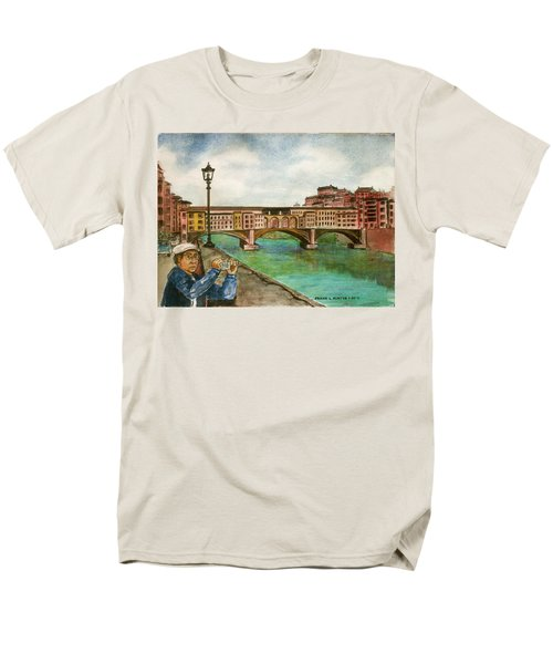 Ponte Vecchio Florence Italy Men's T-Shirt  (Regular Fit) by Frank Hunter