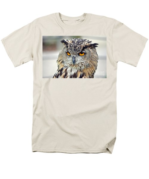 Men's T-Shirt  (Regular Fit) featuring the photograph Portrait Of A Great Horned Owl II by Jim Fitzpatrick