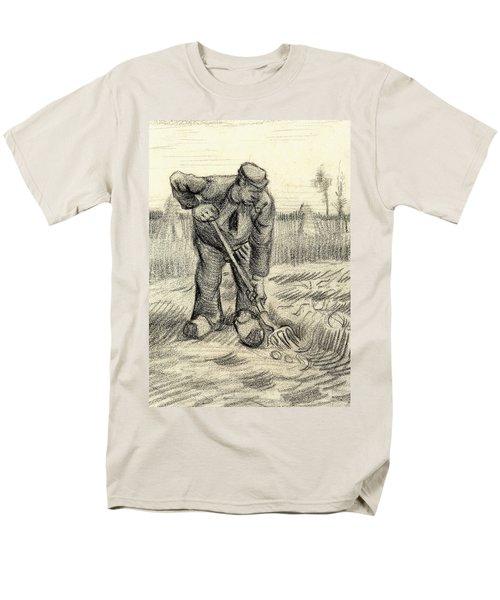 Potato Gatherer Men's T-Shirt  (Regular Fit) by Vincent Van Gogh