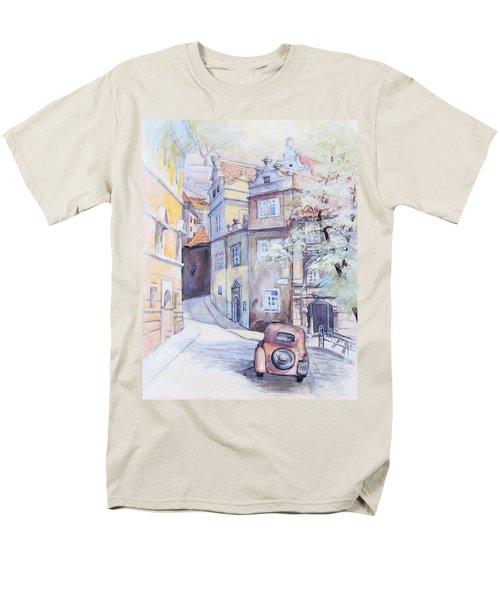 Prague Golden Well Lane Men's T-Shirt  (Regular Fit) by Marina Gnetetsky