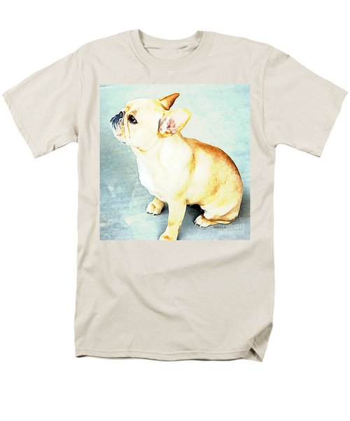 Profile In Frenchie Men's T-Shirt  (Regular Fit) by Barbara Chichester