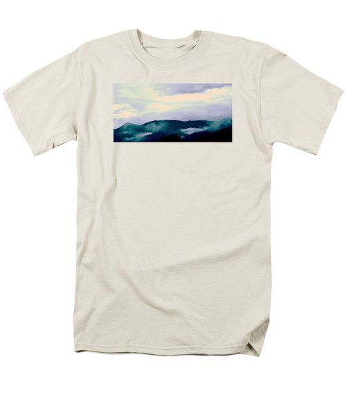 Purple Mountains Majesty Blue Ridge Mountains Men's T-Shirt  (Regular Fit) by Kathy Barney