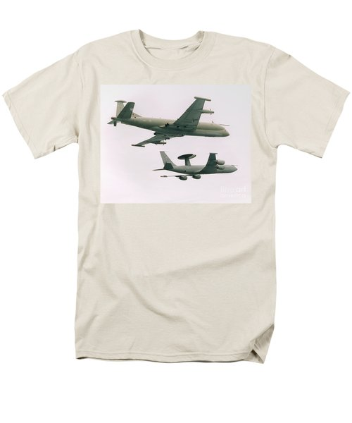 Men's T-Shirt  (Regular Fit) featuring the photograph Raf Nimrod And Awac Aircraft by Paul Fearn