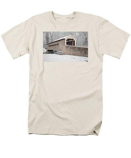 Rapps Bridge In Winter Men's T-Shirt  (Regular Fit) by Michael Porchik