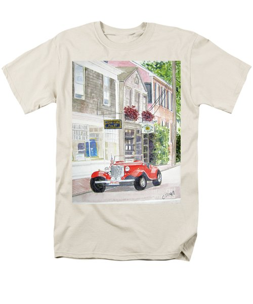 Men's T-Shirt  (Regular Fit) featuring the painting Red Car by Carol Flagg