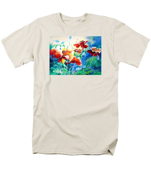 Men's T-Shirt  (Regular Fit) featuring the painting Red Hot Cool Blue by Kathy Braud