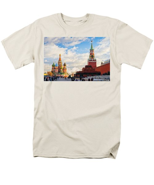Red Square Of Moscow - Featured 3 Men's T-Shirt  (Regular Fit) by Alexander Senin