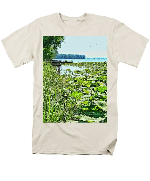 Reelfoot Lake Lilly Pads Men's T-Shirt  (Regular Fit) by Bonnie Willis