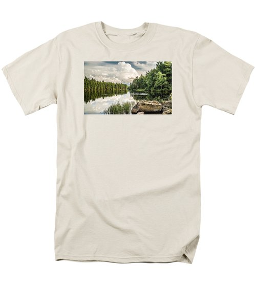 Men's T-Shirt  (Regular Fit) featuring the photograph Reflection Lake In New York by Debbie Green