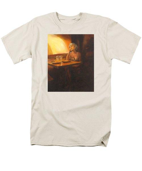 Rendevous At The Indian Restaurant Men's T-Shirt  (Regular Fit) by Connie Schaertl