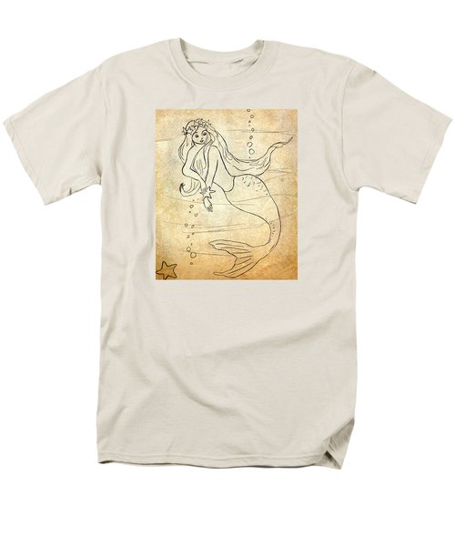 Retro Mermaid Men's T-Shirt  (Regular Fit) by Rosalie Scanlon