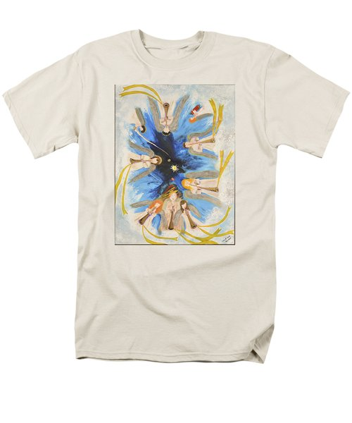 Men's T-Shirt  (Regular Fit) featuring the painting Revelation 8-11 by Cassie Sears