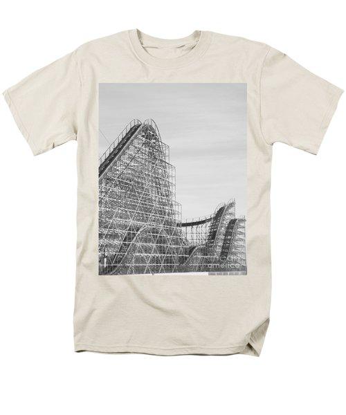 Roller Coaster Wildwood Men's T-Shirt  (Regular Fit) by Eric  Schiabor
