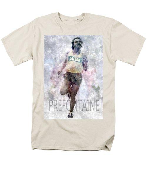 Running Legend Steve Prefontaine Men's T-Shirt  (Regular Fit) by Daniel Hagerman