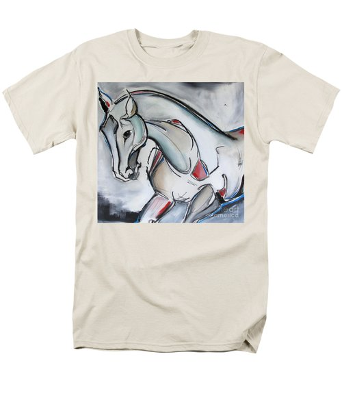 Men's T-Shirt  (Regular Fit) featuring the painting Running Wild by Nicole Gaitan