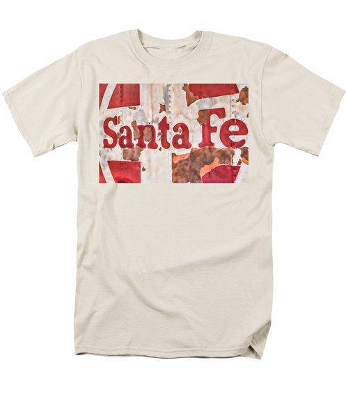 Santa Fe Vintage Railroad Sign Men's T-Shirt  (Regular Fit) by Steven Bateson