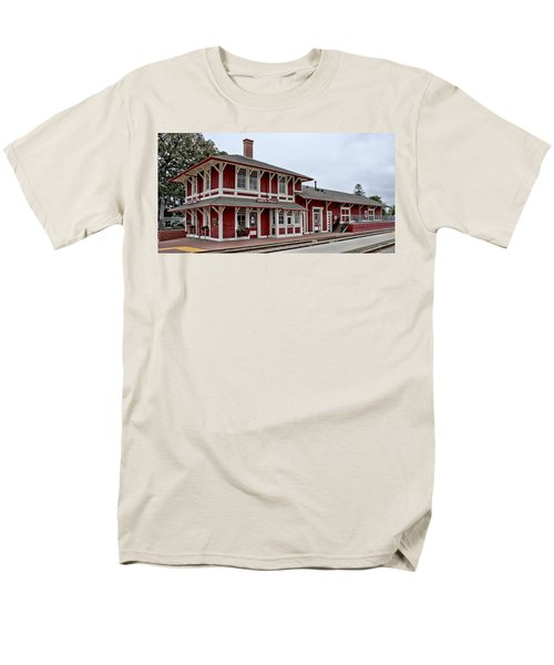 Men's T-Shirt  (Regular Fit) featuring the photograph Santa Paula Station by Michael Gordon