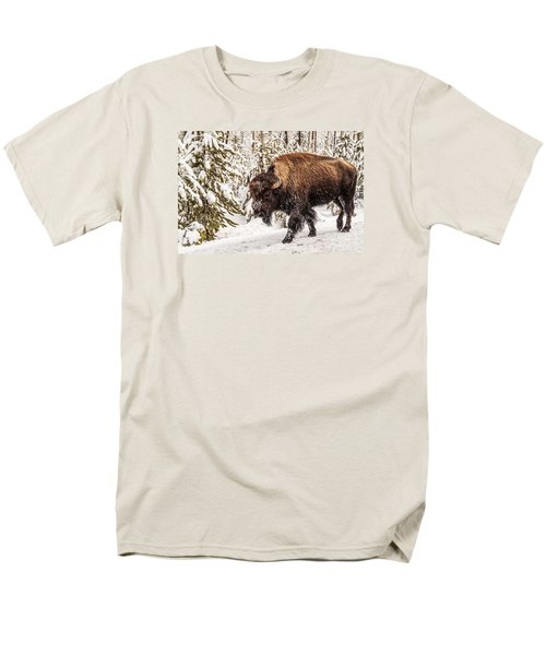 Scary Bison Men's T-Shirt  (Regular Fit) by Sue Smith