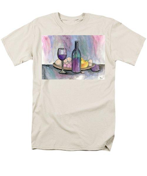 Scene From An Italian Restaurant Men's T-Shirt  (Regular Fit) by Roz Abellera Art
