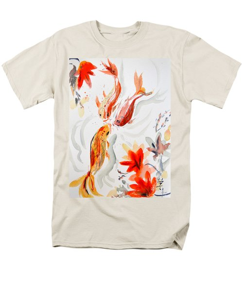 Men's T-Shirt  (Regular Fit) featuring the painting School by Beverley Harper Tinsley
