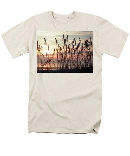 Fabulous Blue Sea Oats Sunrise Men's T-Shirt  (Regular Fit) by Belinda Lee