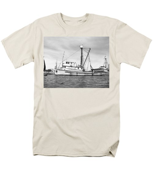 Purse Seiner Sea Queen Monterey Harbor California Fishing Boat Purse Seiner Men's T-Shirt  (Regular Fit) by California Views Mr Pat Hathaway Archives