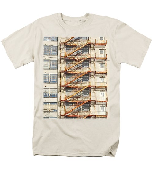 Sears Crosstown Fire Escape Memphis Tn Men's T-Shirt  (Regular Fit) by Lizi Beard-Ward