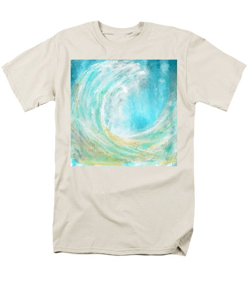 Seascapes Abstract Art - Mesmerized Men's T-Shirt  (Regular Fit) by Lourry Legarde