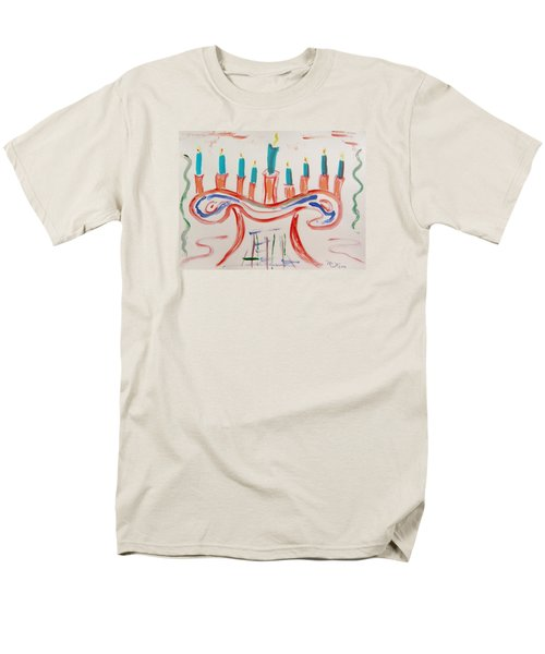 Men's T-Shirt  (Regular Fit) featuring the painting Season Of The Lights by Mary Carol Williams