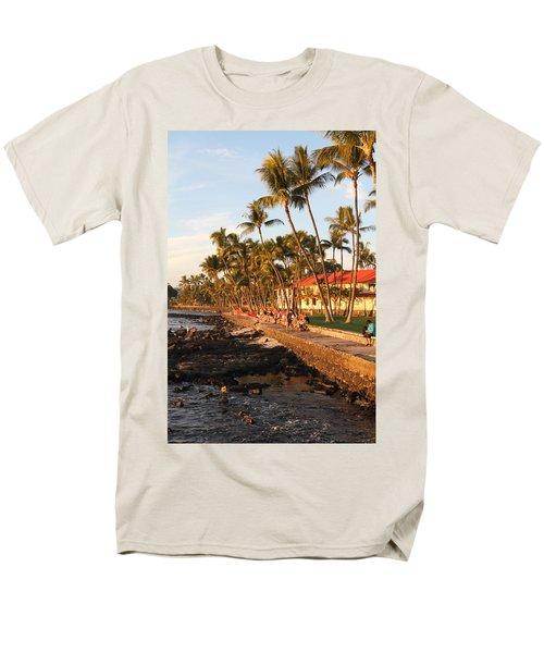 Seawall At Sunset Men's T-Shirt  (Regular Fit) by Denise Bird