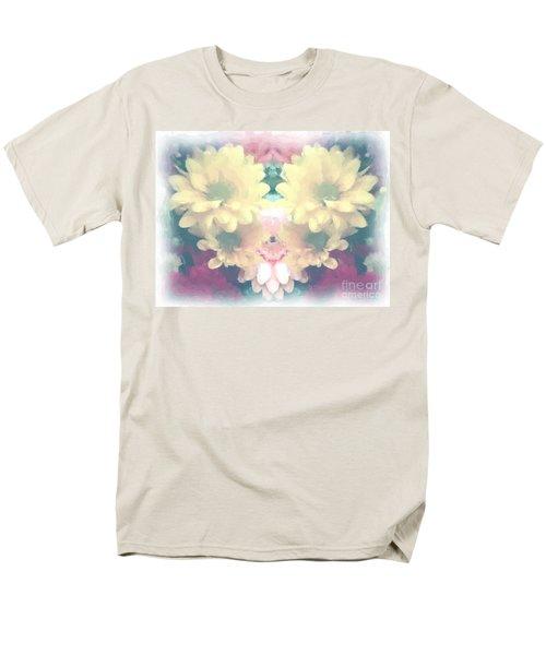 Men's T-Shirt  (Regular Fit) featuring the photograph Serene Zinnias by Luther Fine Art