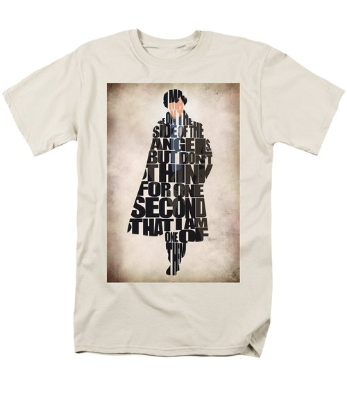 Sherlock - Benedict Cumberbatch Men's T-Shirt  (Regular Fit) by Ayse Deniz