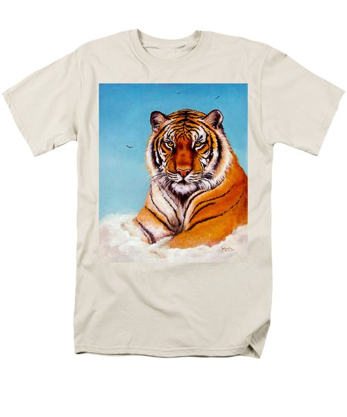 Men's T-Shirt  (Regular Fit) featuring the painting Siberian King Tiger by Bob and Nadine Johnston