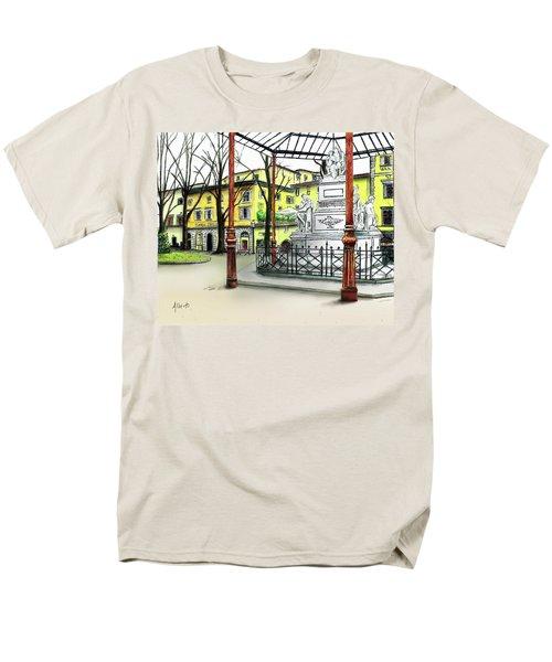 Silla Hotel Piazza Demidoff Florence Men's T-Shirt  (Regular Fit) by Albert Puskaric