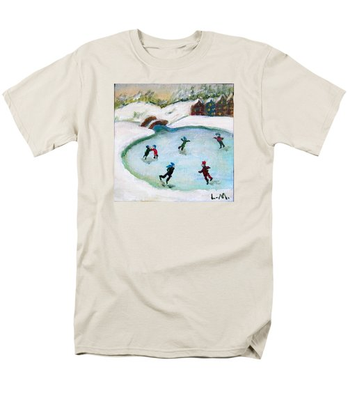 Skating Pond Men's T-Shirt  (Regular Fit) by Laurie Morgan