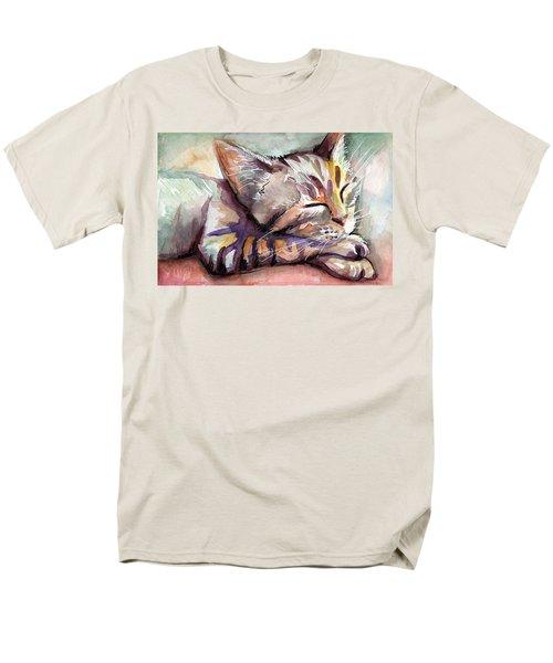 Sleeping Kitten Men's T-Shirt  (Regular Fit) by Olga Shvartsur