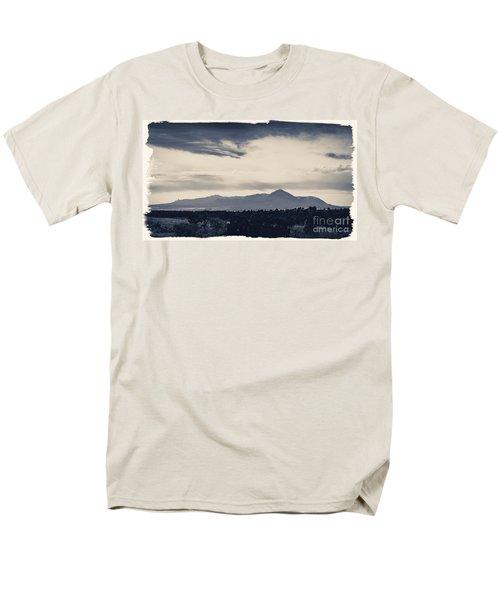 Sleeping Ute Mountain Men's T-Shirt  (Regular Fit) by Janice Rae Pariza
