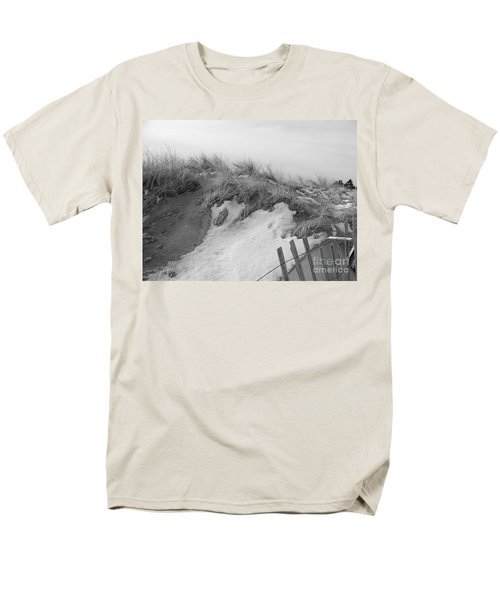 Snow Covered Sand Dunes Men's T-Shirt  (Regular Fit) by Eunice Miller