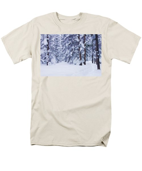 Snow-dappled Woods Men's T-Shirt  (Regular Fit) by Don Schwartz